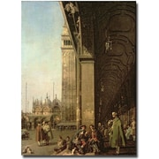 Trademark Global Canaletto Piazza di San Marco, Venezzia Canvas Art, 47 x 35