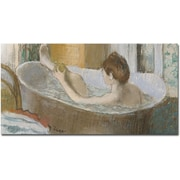 "Trademark Global Edgar Degas ""Woman in Her Bath 1883"" Canvas Art, 24"" x 47"""