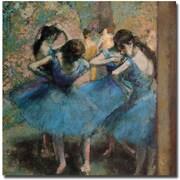 "Trademark Global Edgar Degas ""Dancers in Blue 1890"" Canvas Art, 18"" x 18"""
