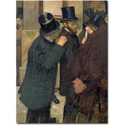 Trademark Global Edgar Degas At the Stock Exchange 1878 Canvas Art, 32 x 26