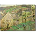 Trademark Global Camille Pissarro in.Hillside of Hermitage, 1873in. Canvas Arts