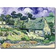 Trademark Global Vincent Van Gogh in.Cottages at Auvers-sur-Oisein. Canvas Art, 14in. x 19in.
