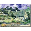 Trademark Global Vincent Van Gogh in.Cottages at Auvers-sur-Oisein. Canvas Art, 26in. x 32in.