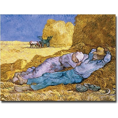 Trademark Global Vincent Van Gogh in.Siesta After Millet, 1890in. Canvas Arts