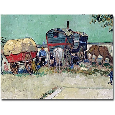 Trademark Global Vincent Van Gogh in.Gypsy Encampment Arles 1888in. Canvas Arts