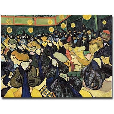 Trademark Global Vincent Van Gogh in.The Dance Hall at Arles 1888in. Canvas Art, 18in. x 24in.