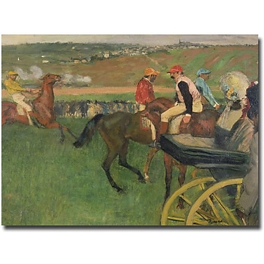 Trademark Global Edgar Degas in.The Race Coursein. Canvas Art, 35in. x 47in.