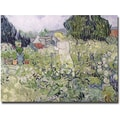 Trademark Global Vincent Van Gogh in.Mademoiselle Gachet at Auvers-sur-Oisein. Canvas Arts