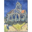 Trademark Global Vincent Van Gogh in.Church at Auvers-sur-Oise, 1890in. Canvas Art, 18in. x 24in.