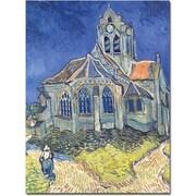 "Trademark Global Vincent Van Gogh ""Church at Auvers-sur-Oise, 1890"" Canvas Art, 18"" x 24"""