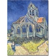 Trademark Global Vincent Van Gogh in.Church at Auvers-sur-Oise, 1890in. Canvas Art, 26in. x 32in.