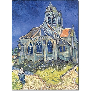 Trademark Global Vincent Van Gogh in.Church at Auvers-sur-Oise, 1890in. Canvas Arts