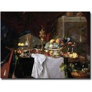 Trademark Global Jan Davidz de Heem Still Life, 1640 Canvas Art, 18 x 24