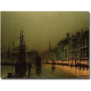 Trademark Global John Atkinson Grimshaw Greenock Dock by Moonlight Canvas Art, 18 x 24
