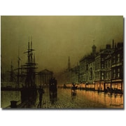 Trademark Global John Atkinson Grimshaw Greenock Dock by Moonlight Canvas Art, 30 x 47