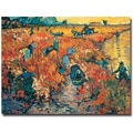 Trademark Global Vincent Van Gogh in.Red Vineyards at Arles 1888in. Canvas Art, 18in. x 24in.