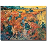 "Trademark Global Vincent Van Gogh ""Red Vineyards at Arles 1888"" Canvas Art, 18"" x 24"""