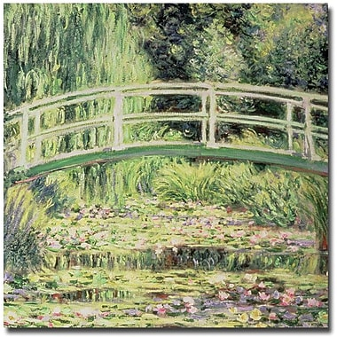 Trademark Global Claude Monet in.White Nenuphars, 1899in. Canvas Art, 18in. x 18in.