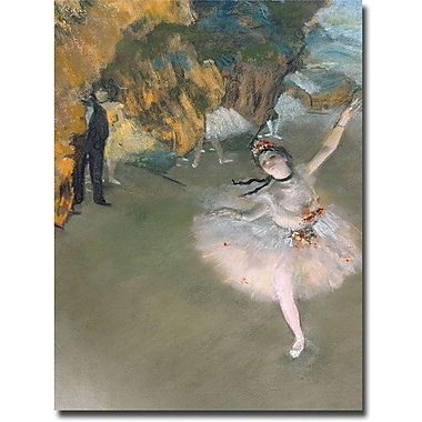 Trademark Global Edgar Degas in.The Star 1876in. Canvas Art, 24in. x 18in.