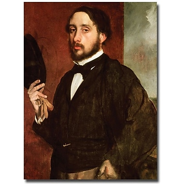 Trademark Global Edgar Degas in.Self Portrait, 1862in. Canvas Art, 47in. x 35in.