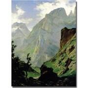 "Trademark Global Carlos de Haes ""Mountains in Europe, 1876"" Canvas Art, 32"" x 24"""
