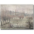 Trademark Global Camille Pissarro in.Snow Effect at Eragny, 1894in. Canvas Arts