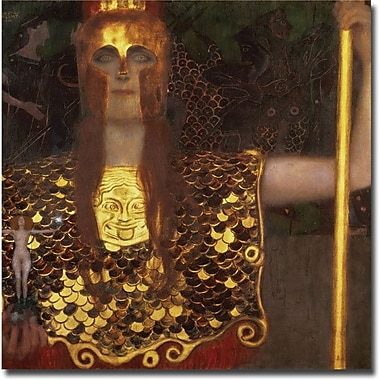 Trademark Global Gustav Klimt in.Minervain. Canvas Art, 35in. x 35in.