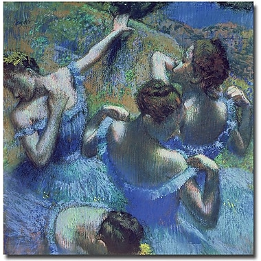 Trademark Global Edgar Degas in.Blue Dancers 1899in. Canvas Art, 18in. x 18in.