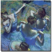 Trademark Global Edgar Degas Blue Dancers 1899 Canvas Art, 18 x 18