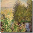 "Trademark Global Claude Monet ""Corner of the Garden at Montgeron, 1876"" Canvas Art, 24"" x 24"""