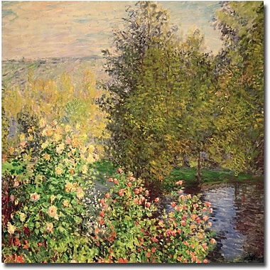 Trademark Global Claude Monet in.Corner of the Garden at Montgeron, 1876in. Canvas Art, 35in. x 35in.