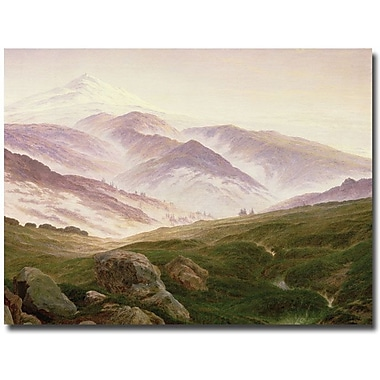 Trademark Global Caspar David Friedrich in.The Mountains of the Giants, 1839in. Canvas Art, 35in. x 47in.