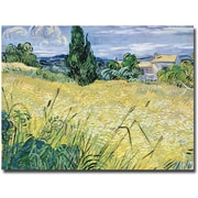 "Trademark Global Vincent Van Gogh ""Landscape with Green Corn, 1889"" Canvas Art, 35"" x 47"""