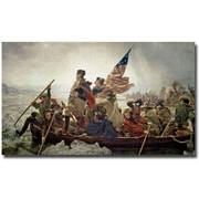 "Trademark Global Emanuel Leutze ""Washington Crossing Delaware River in 1776"" Canvas Art, 30"" x 47"""