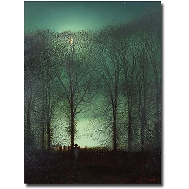 Trademark Global John Atkinson Grimshaw in.Figure in the Moonlightin. Canvas Art, 32in. x 26in.