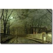 Trademark Global John Atkinson Grimshaw Silver Moonlight, 1880 Canvas Art, 30 x 47