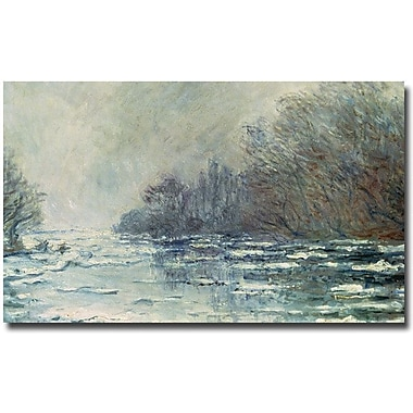Trademark Global Claude Monet in.The Break up at Vetheuil, 1883in. Canvas Art, 16in. x 24in.