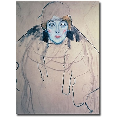 Trademark Global Gustav Klimt in.Head of a Womanin. Canvas Art, 32in. x 24in.