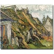 Trademark Global Vincent Van Gogh in.Cottages in Chaponval Auvers-sur-Oisein. Canvas Art, 18in. x 24in.