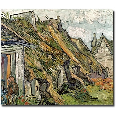 Trademark Global Vincent Van Gogh in.Cottages in Chaponval Auvers-sur-Oisein. Canvas Arts