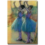 "Trademark Global Edgar Degas ""Two Blue Dancers"" Canvas Art, 47"" x 30"""