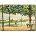 Trademark Global Alfred Sisley in.Spanish Chesnut Trees by the Riverin. Canvas Arts