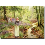 """Trademark Global Ernest Walbourn """"The Bluebell Glade"""" Canvas Art, 16"""" x 24"""""""