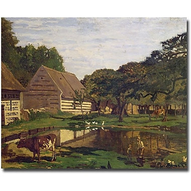 Trademark Global Claude Monet in.A Farmyard in Normandy, 1863in. Canvas Arts