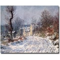 Trademark Global Claude Monet in.The Road of Giverny Winter 1885in. Canvas Art, 35in. x 47in.