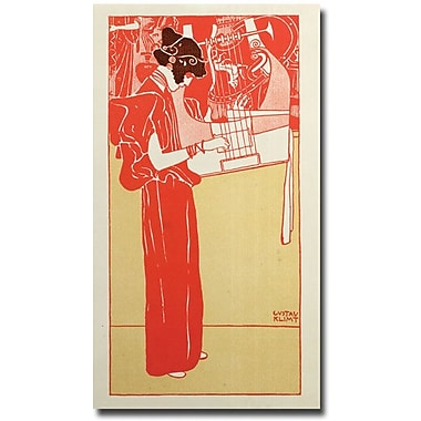 Trademark Global Gustav Klimt in.Musik 1901in. Canvas Art, 47in. x 24in.