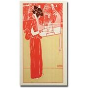 "Trademark Global Gustav Klimt ""Musik 1901"" Canvas Art, 47"" x 24"""
