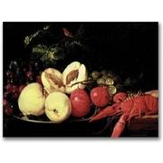 """Trademark Global Jan Davidsz de Heem """"Still Life of Fruit with a Lobster"""" Canvas Art, 16"""" x 24"""""""