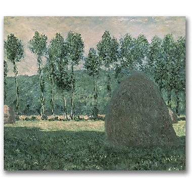 Trademark Global Claude Monet in.Haystacks near Giverny, 1884-89in. Canvas Art, 35in. x 47in.