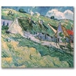 Trademark Global Vincent Van Gogh in.Cottages at Auvers-sur-Oise, 1890in. Canvas Art, 26in. x 32in.